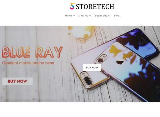 front page of five store tech screen shot